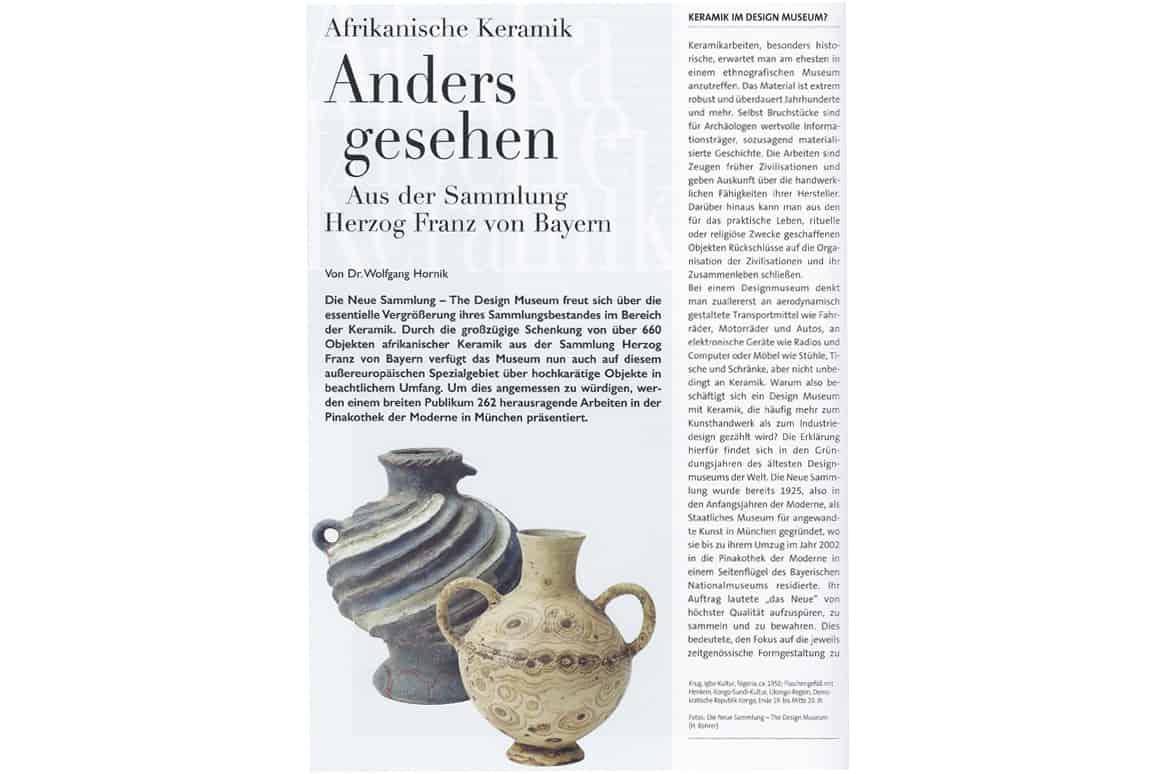 Anders gesehen. Afrikanische Keramik - Aus der Sammlung Herzog Franz von Bayern